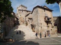 塞尔莫内塔-眺望楼的楼梯 库存图片