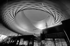 巴塞尔,瑞士- 2014年11月01日:在的会展中心 库存图片