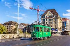 巴塞尔,瑞士- 11月03 :遗产在中部的电车铈2/2 免版税库存照片