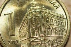 塞尔维亚人丁那-硬币金钱 免版税库存照片