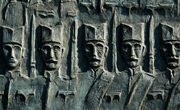塞尔维亚人战士战争世界的第一座纪&# 免版税库存照片