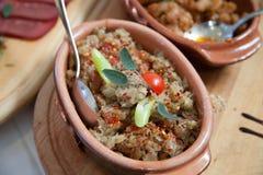 塞尔维亚传统开胃菜 免版税库存照片