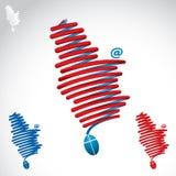 塞尔维亚塑造了缆绳 库存照片
