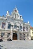 塞尔维亚正统主教宫殿在蒂米什瓦拉,罗马尼亚 免版税图库摄影