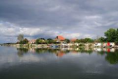 塞尔维亚渔村 免版税库存图片