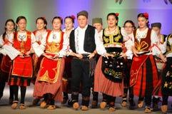 塞尔维亚青年舞蹈家 库存照片