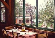 塞尔维亚餐馆 免版税图库摄影