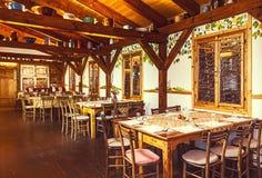塞尔维亚餐馆 免版税库存图片