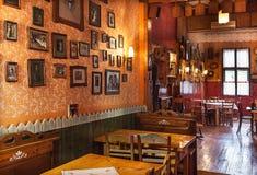 塞尔维亚餐馆 免版税库存照片