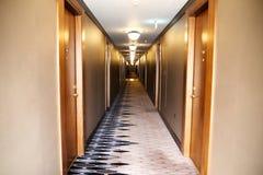 塞尔维亚,贝尔格莱德- 2017年5月30日 走廊 走廊在旅馆里 库存图片