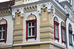 塞尔维亚主教制度的宫殿的门面 图库摄影