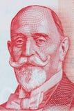 从塞尔维亚` s金钱的Dorde Vajfert画象 免版税库存照片