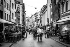 巴塞尔购物街道 免版税库存照片