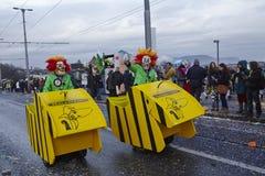 巴塞尔(瑞士) -狂欢节2015年 库存图片