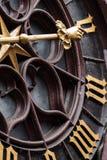 巴塞尔Rathaus时钟细节  库存图片