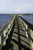 塞巴斯蒂安,有蓝天的佛罗里达 库存照片