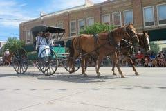 塞恩,怀俄明,美国- 2010年7月26-27, :在街市Cheye的游行 免版税库存照片