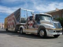 塞恩,怀俄明,美国- 2010年7月27日:在街市塞恩,怀俄明游行,在每年边境的天期间 免版税库存照片