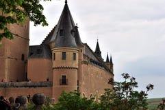 塞戈维亚,西班牙城堡城堡  免版税库存图片