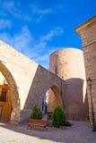 塞戈韦Castellon Torre de la Carcel Portal de特鲁埃尔省在西班牙 免版税库存照片