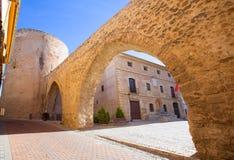 塞戈韦Castellon Torre del Verdugo中世纪Muralla西班牙 免版税库存图片