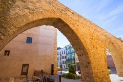 塞戈韦Castellon Torre del Verdugo中世纪Muralla西班牙 库存照片