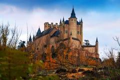 塞戈维亚城堡在11月 免版税图库摄影