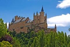 塞戈维亚城堡  库存图片