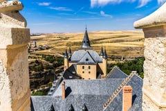 塞戈维亚堡垒 免版税库存图片