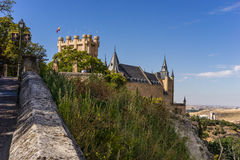 塞戈维亚堡垒 库存图片