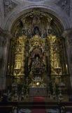 塞戈维亚大教堂里面看法  库存图片