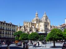 塞戈维亚大教堂,西班牙 免版税库存图片