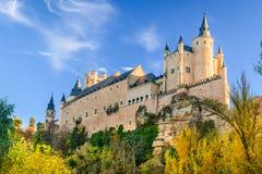 塞戈维亚,卡斯提尔,西班牙城堡  免版税库存照片