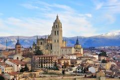 塞戈维亚,西班牙全景  库存图片