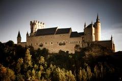 塞戈维亚,西班牙城堡  图库摄影