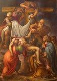 塞戈维亚,西班牙, 2016年4月- 14日:发怒绘画的证言弗朗西斯科卡米洛17 分 在`克里斯多Yacent教堂里  图库摄影