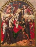 塞戈维亚,西班牙:发怒绘画的证言在大教堂Nuestra de夫人la亚松森y de圣弗鲁托斯de塞戈维亚的 图库摄影