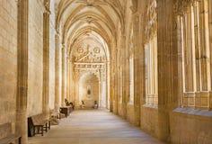 塞戈维亚,西班牙:我们的假定的夫人大教堂哥特式心房  免版税库存照片