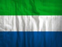 塞拉利昂旗子纹理背景 免版税库存照片