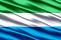 塞拉利昂现实旗子例证 库存例证