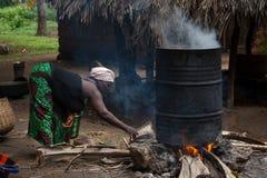 塞拉利昂,西非, Yongoro村庄  免版税图库摄影