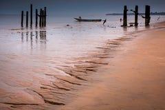 塞拉利昂,西非, Yongoro海滩  库存照片