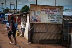 塞拉利昂,西非, Yongoro海滩  免版税库存照片