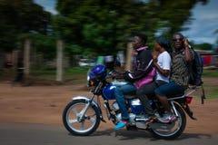塞拉利昂,西非, Yongoro海滩  免版税图库摄影