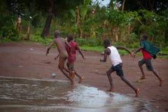 塞拉利昂,西非, Yongoro海滩  图库摄影