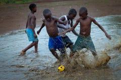 塞拉利昂,西非, Yongoro海滩  免版税库存图片