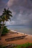 塞拉利昂,西非, Yongoro海滩  库存图片
