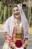 塞拉尔朱斯,意大利- 2015年9月13日:前婚姻Selargino -撒丁岛 免版税库存照片
