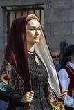 塞拉尔朱斯,意大利- 2016年9月11日:前婚姻Selargino -撒丁岛 免版税图库摄影