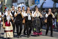 塞拉尔朱斯,意大利- 2016年9月11日:前婚姻Selargino -撒丁岛 免版税库存照片